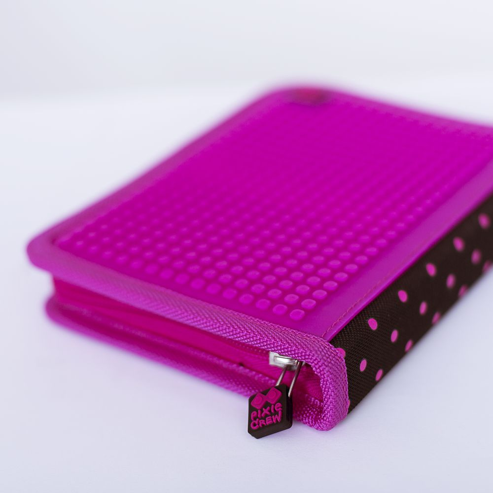 Creative school pixel pencil case fuchsia/black PXA-04-L15