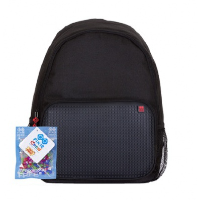 Creative pixel backpack for spare time activities black PXB-01-L24