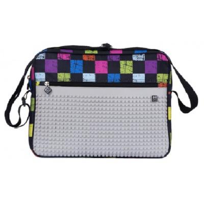 Creative pixel messenger bag checked pattern PXB-04-Y22