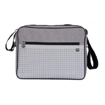 Creative pixel messenger bag grey PXB-03-K22
