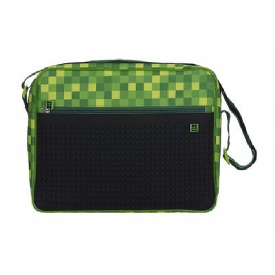 Creative pixel messenger bag green checked pattern Minecraft PXB-04-D24