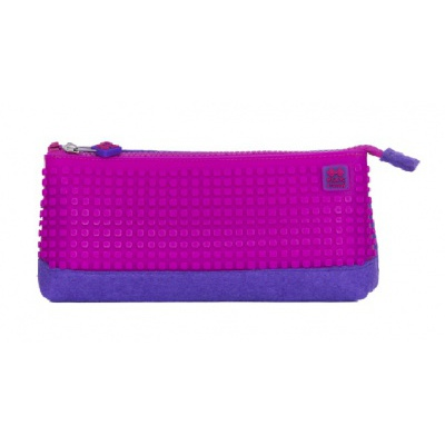 Creative school pixel pencil case purple/pink PXA-01-F15