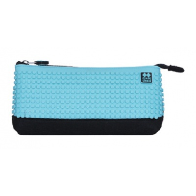 Creative school pixel pencil case turquoise/black PXA-01-L09