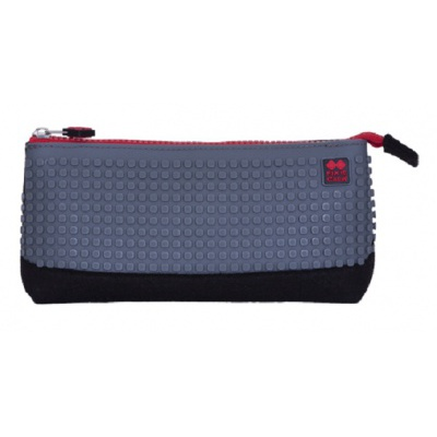 Creative school pixel pencil case grey/black PXA-01-L23