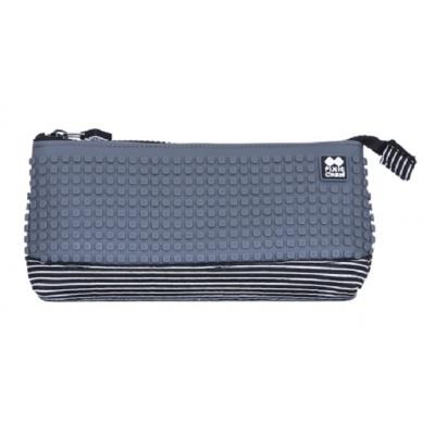 Creative school pixel pencil case grey/black PXA-02-L23