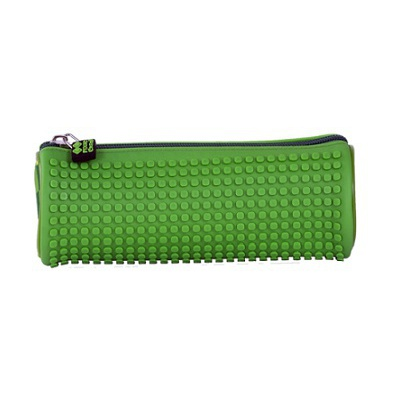 Creative round school pixel pencil case green PXA-06-D07