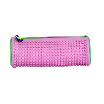 Creative round school pixel pencil case purple/pink PXA-05-F17