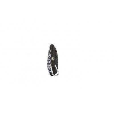 PIXIE CREW creative pixel purse black and white flowers PXA-08-03