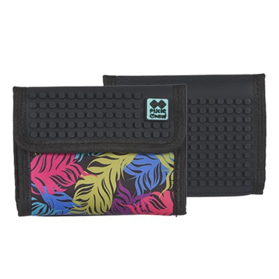 PIXIE CREW creative pixel wallet multi-colour feathers PXA-10-02