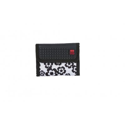 PIXIE CREW creative pixel wallet black and white flowers PXA-10-03