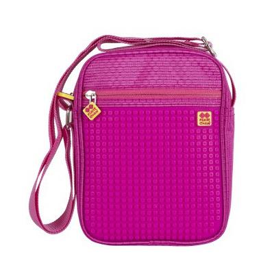 Creative pixelated shoulder bag fuchsia PXB-11-G15