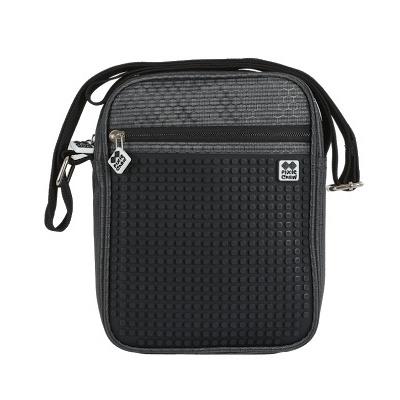 Creative pixelated shoulder bag black PXB-11-L24