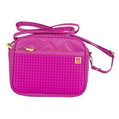 Creative pixelated shoulder bag fuchsia PXB-09-G15