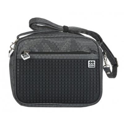 Creative pixelated shoulder bag black PXB-09-L24