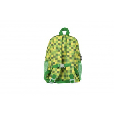 Creative pixelated children's backpack green cube/glow-in-the-dark PXB-18-04