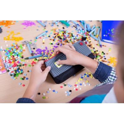 Creative school pixel pencil case grey/black PXA-01-L23