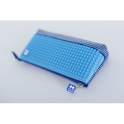Creative school pixel pencil case royal blue/blue PXA-02-E10