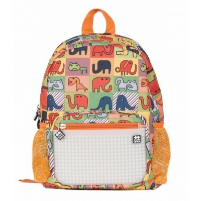 Creative pixelated children's backpack merry zoo/glow-in-the-dark PXB-18-02