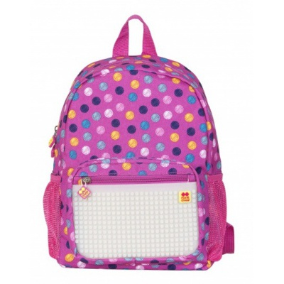 Creative pixelated children's backpack coloured dots/fluorescent glow-in-the-dark PXB-18-01