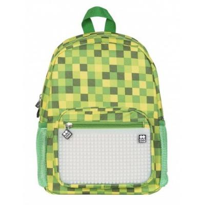 Creative pixelated children's backpack green cube/glow-in-the-dark PXB-18-04