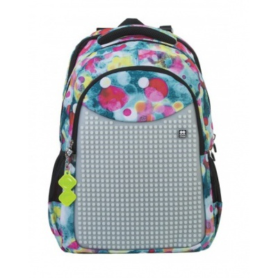 Creative pixelated school backpack advanced bubbles PXB-06-P98