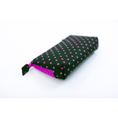 Creative school pixel pencil case fuchsia/black PXA-02-L15