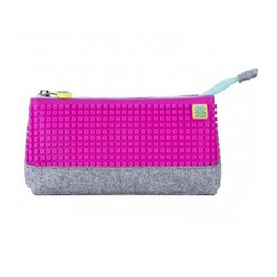 Creative pixelated school pencil case neon pink PXA-01-W15