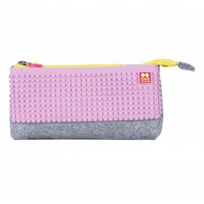 Creative pixelated school pencil case light pink PXA-01-W17