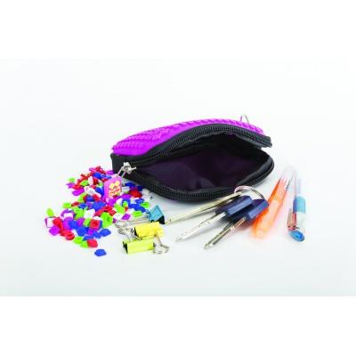 Creative pixelated mini bag PIXIE CREW fuchsia with polkadots PXA-08-17