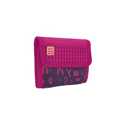 Creative pixelated purse PIXIE CREW purple alphabet PXA-10