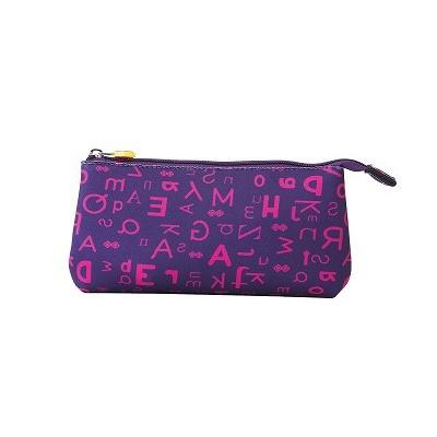 Creative pixelated school pencil case purple alphabet PXA-02