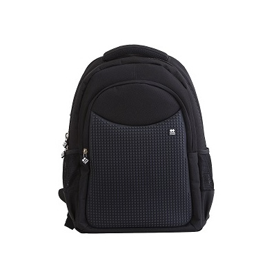 Creative pixelated school backpack black PXB-05-L24
