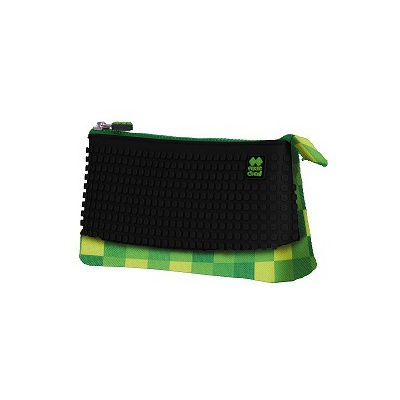 Creative pixelated school pencil case green/black PXA-02-D24