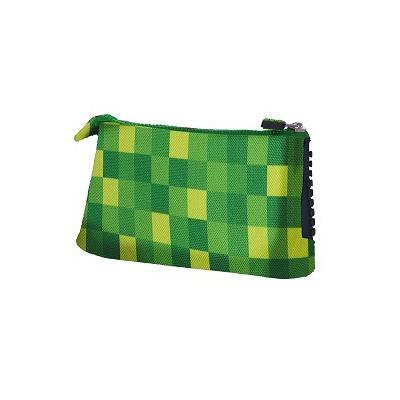 Creative pixelated school pencil case green/black PXA-02-D24
