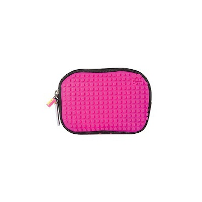 Creative pixelated mini bag PIXIE CREW fuchsia with polkadots PXA-08-17