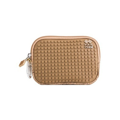 Creative pixelated mini bag PIXIE CREW brown/cork PXA-08-CORK