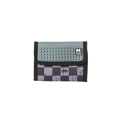 Creative pixelated purse PIXIE CREW grey checkered PXA-10-15