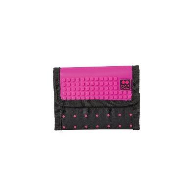 Creative pixelated purse PIXIE CREW fuchsia with polkadots PXA-10-17