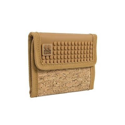 Creative pixelated purse PIXIE CREW brown/cork PXA-10-CORK