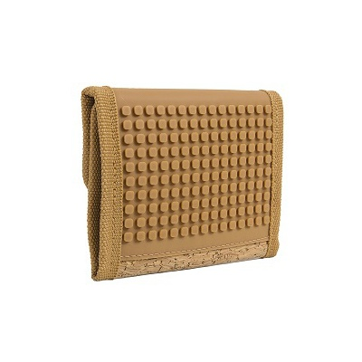 Creative pixelated purse PIXIE CREW brown/cork PXA-10-CORK