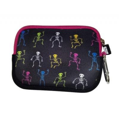 Creative pixelated mini bag PIXIE CREW phosphorescent/coloured skeletons PXA-08-08
