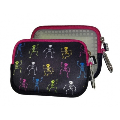 Creative pixelated mini bag PIXIE CREW phosphorescent/coloured skeletons PXA-08-08