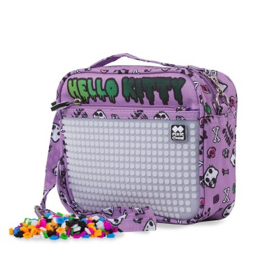 Creative pixelated shoulder bag Hello Kitty purple PXB-09-89