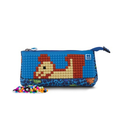 Creative pixel school pencil case Dino PXA-02-90