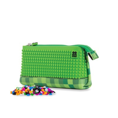 Creative pixel school pencil case green/green PXA-02-D07