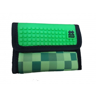 PIXIE CREW creative pixel wallet green cube PXA-10-18