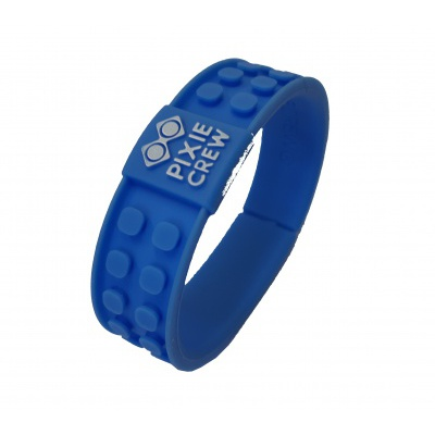 Creative pixelated bracelet blue Dino