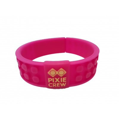Creative pixelated bracelet fuchsia Hello Kitty