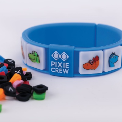 Creative pixelated bracelet blue Dino