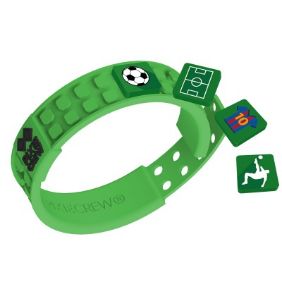 Creative pixelated bracelet green - football